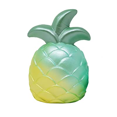 ibloom Cutie Pineapple Slow Rising Fruits Squishy Toy (Miracle Green, 5 Inch) [Birthday Gifts, Party Favors for Kids or Stress Relief Toys for Adults]: Toys & Games