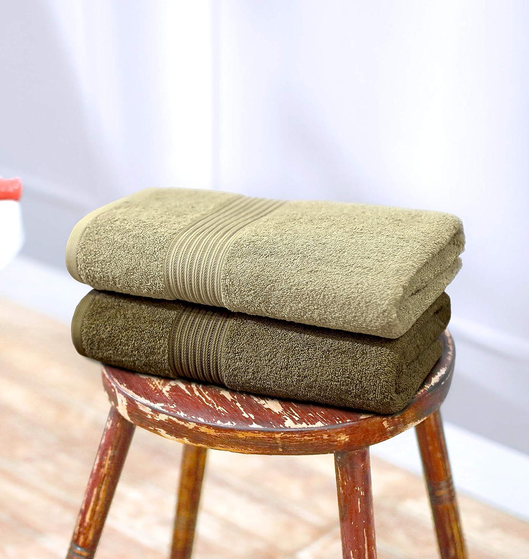 Swiss Republic 600 GSM Made Ring Spun Soft Cotton Doublestitch Line Bath Towels