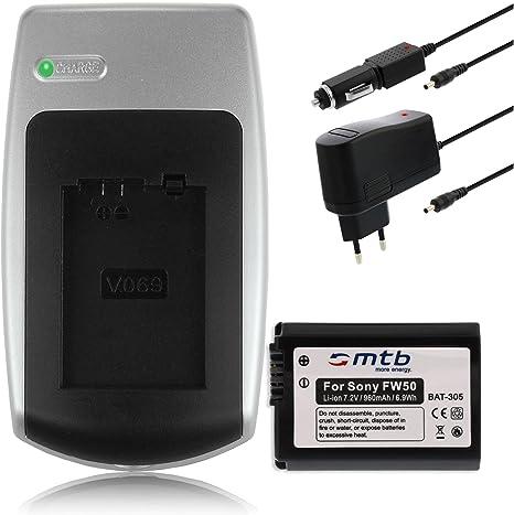 Batería + Cargador NP-FW50 para Sony NEX-5R, NEX-6, NEX-7, NEX-C3 ...
