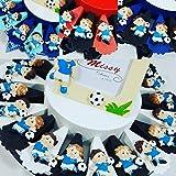 Torta BOMBONIERE Calcio Squadra del Cuore Nascita, Battesimo, Comunione, CRESIMA, Compleanno (1 Fetta Italia + 1 Magnete + Confetti Senza Torta)