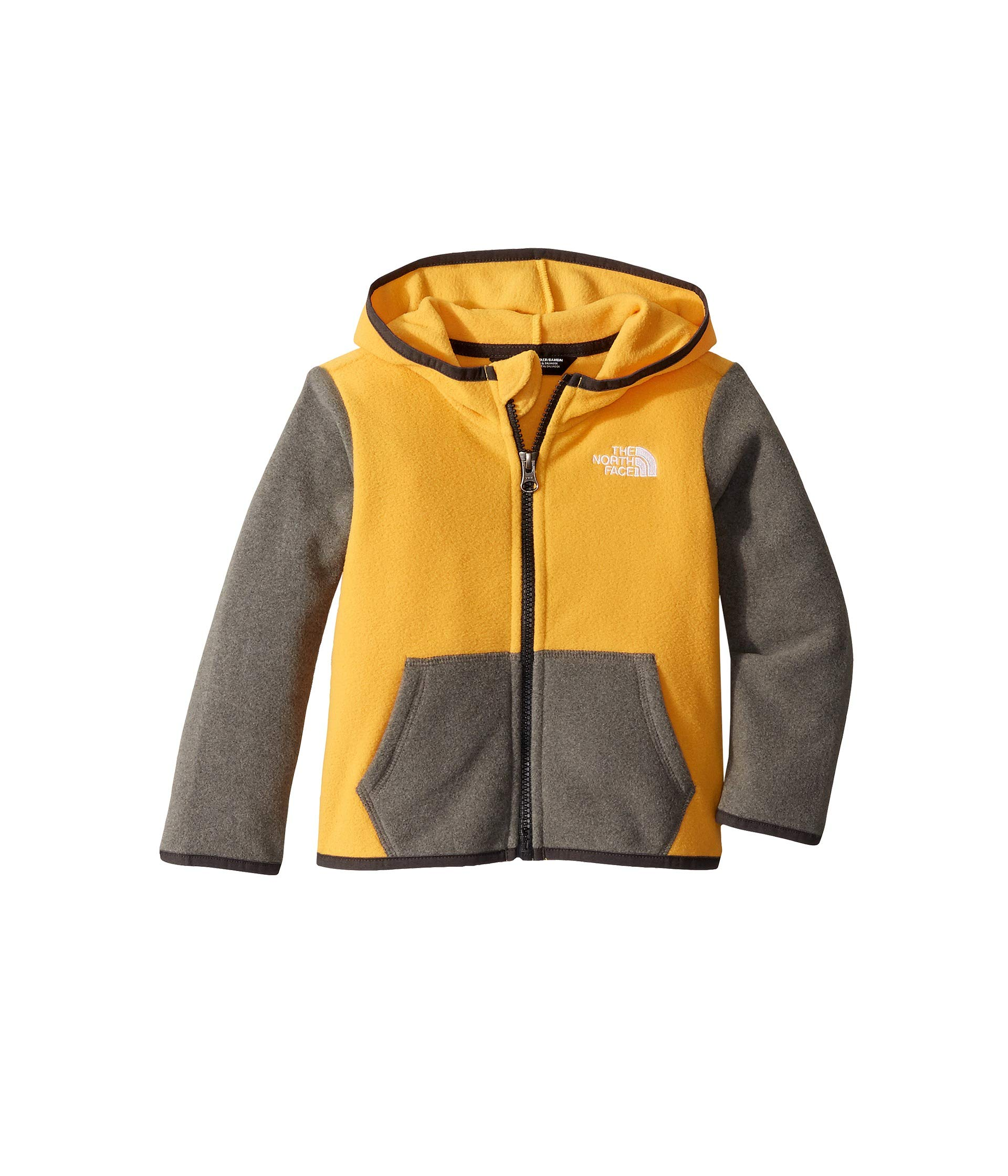 The North Face Kids Baby Boy's Glacier Full Zip Hoodie (Toddler) TNF Yellow 4T