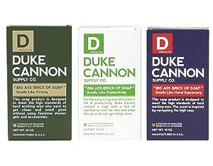 Duke Cannon Men's Big Ass Brick of Soap Set - Productivity, Naval Supremacy, Victory