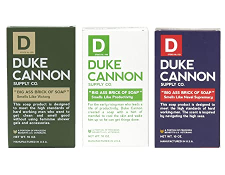 Duke Cannon Men s Big Ass Brick of Soap Set – Productivity, Naval Supremacy, Victory