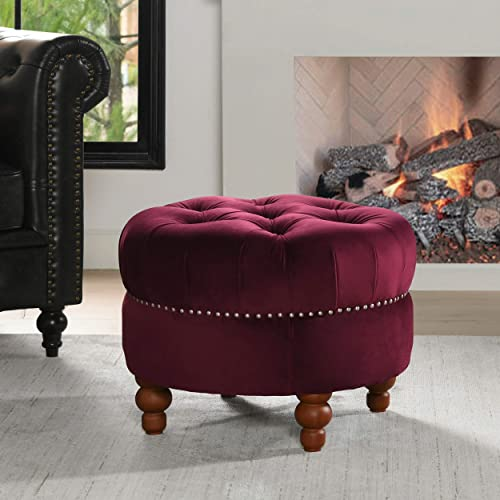 Jennifer Taylor Home La Rosa Collection Tawny Port Nailhead Trim