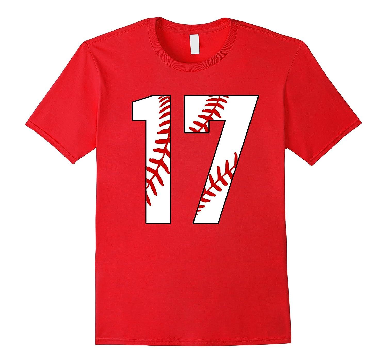 17 Baseball 17th Birthday Seventeen Baseball Mom T-shirt-TD