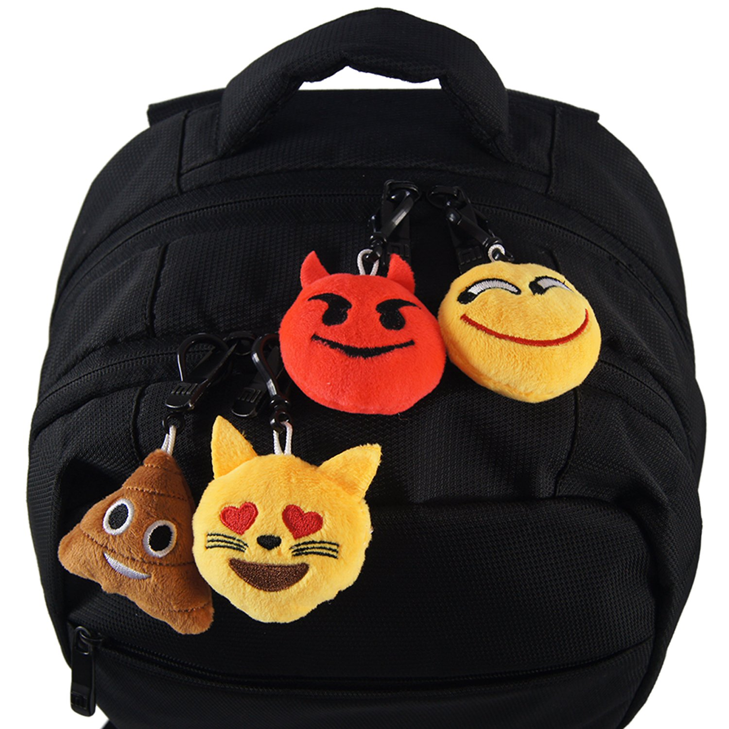 Ivenf Pack of 50 5cm/2'' Emoji Poop Plush Keychain Birthday Party Favors Supplies Mini Pillows Set, Emoticon Backpack Clips, Goodie Bag Stuffers Pinata Fillers Novelty Gifts Toys Prizes for Kids by Ivenf (Image #6)