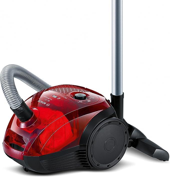 Bosch Bag&Bagless Aspirador sin Bolsa, diseño Compacto, 600 W, 3.5 litros, 80 Decibelios, Rojo traslúcido: Amazon.es: Hogar