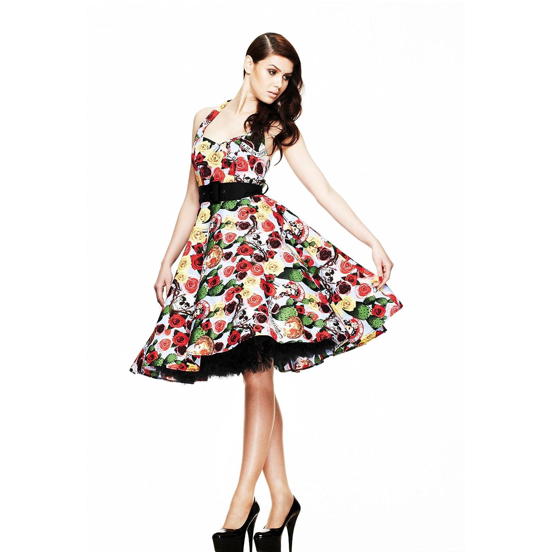 Hell Bunny Kleid MEXICO 50\'S DRESS black-multi: Amazon.de: Bekleidung