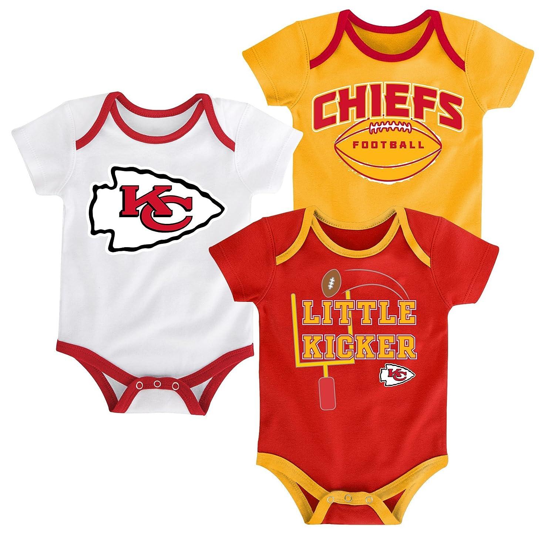 NFL Boys 3パックボディスーツセット「3ポイント 24 Months Kansas City Chiefs B01D0DOTUK