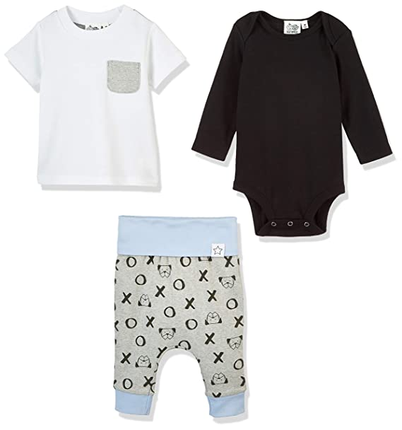 08e670bf7 Amazon.com  Silly Apples Baby Boys Cotton Blend 3-Piece Long-Sleeve ...