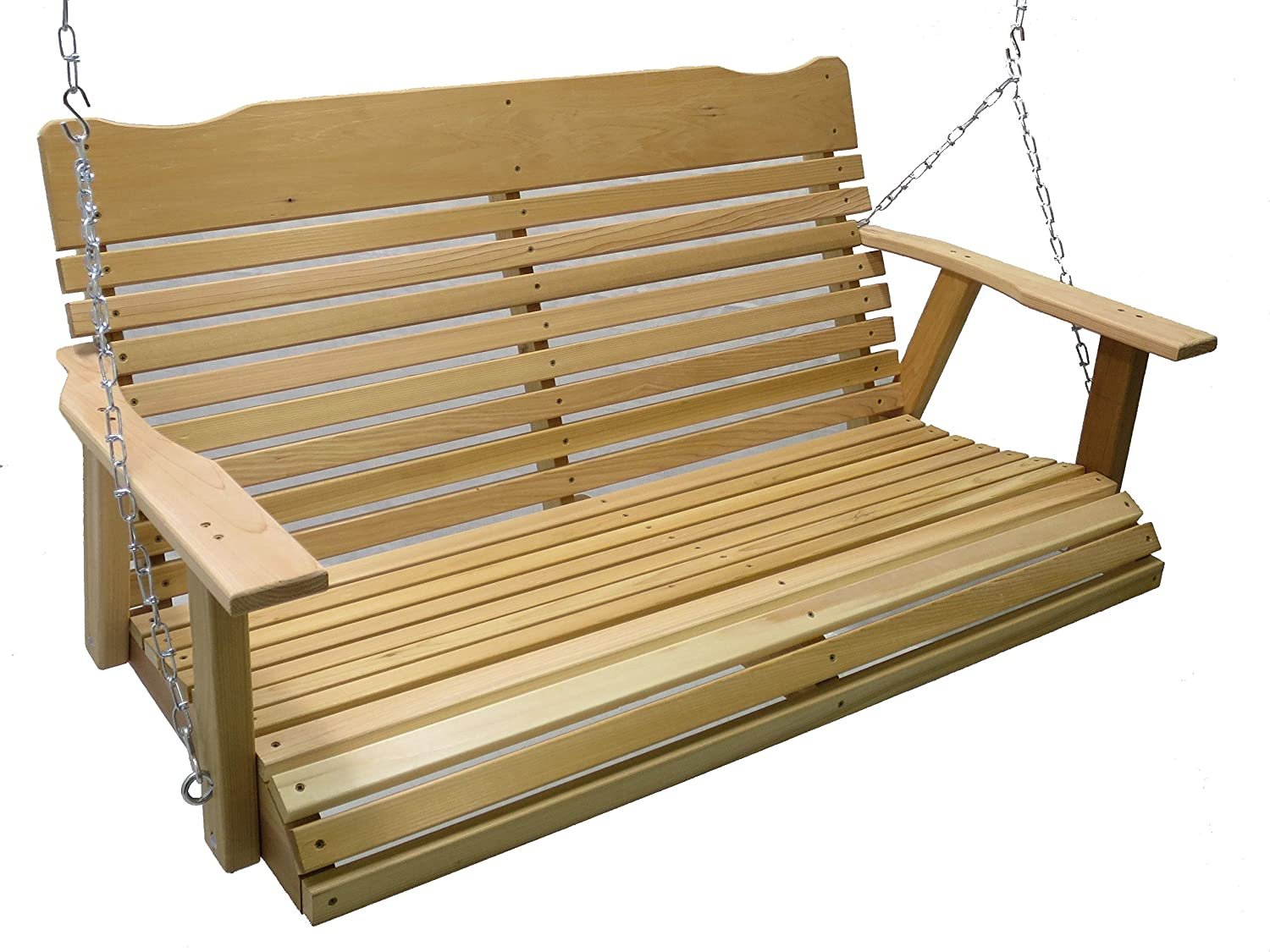 Kilmer Creek 4 Foot Natural Cedar Porch Swing with Chain, Springs, Amish