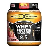 Body Fortress Super Advanced Whey Protein Powder, Gluten Free, Strawberry, 2 Pound...