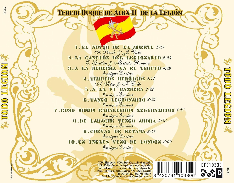 Todo Legion, El Novio de la Muerte: Tercio Duque de Alba II de La Legion, Ricardo Dorado: Amazon.es: Música