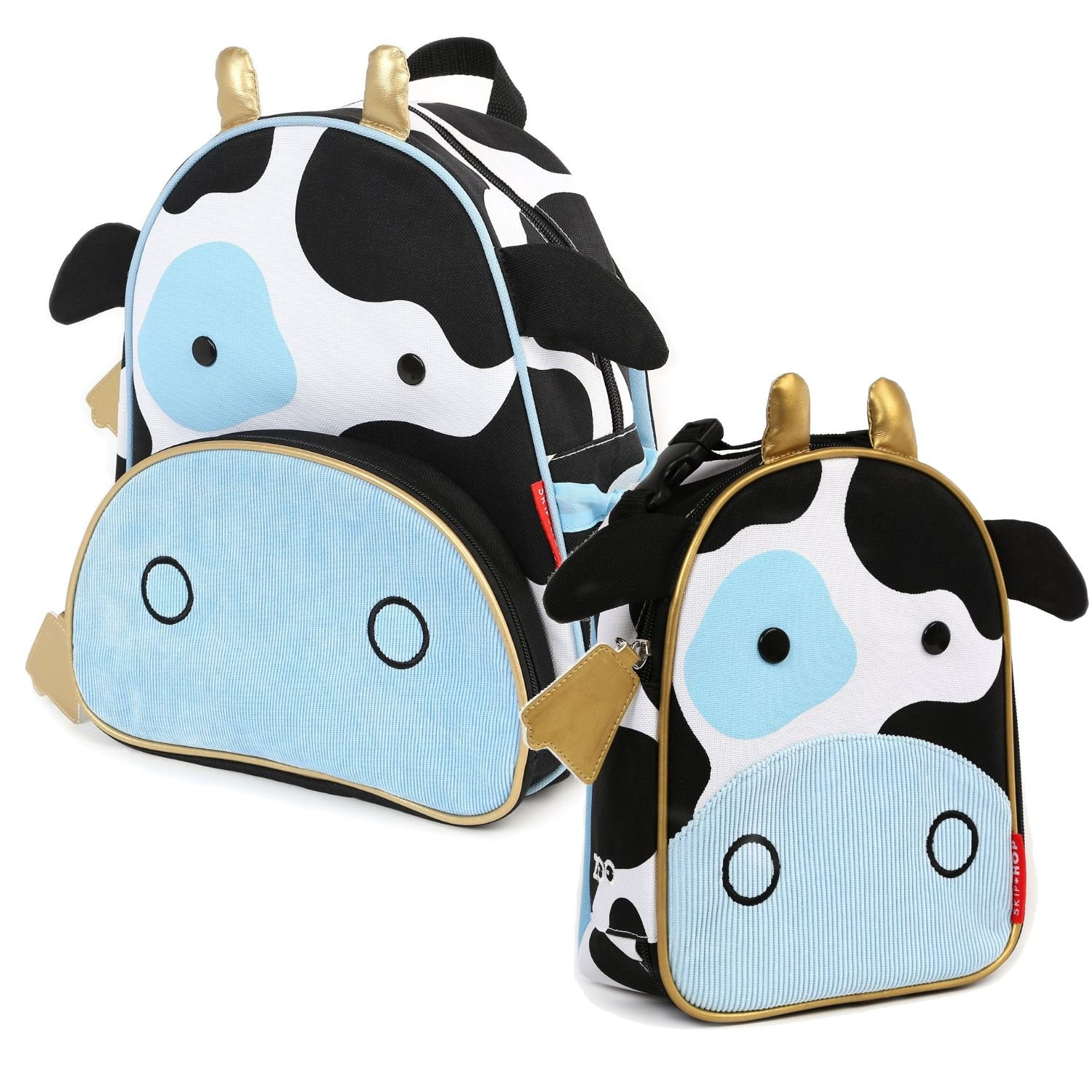 Skip Hop Children's Zoo Pack Backpack & Lunchie Lunch Bag Combo - Cow