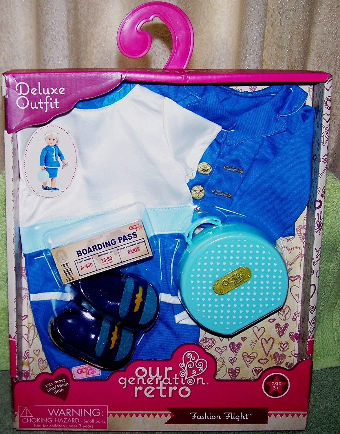 Our Generation Retro FASHION FLIGHT Deluxe Outfit New Battat