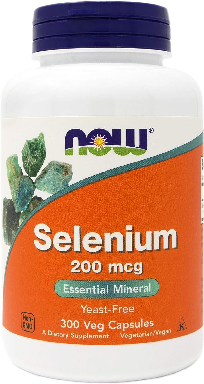 Now Selenium 200 mcg, 300 Capsules - Now Foods Mineral Supplement