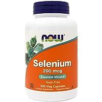 Now Selenium 200mcg 300 Veg Capsules - Non-GMO, Vegan, Kosher