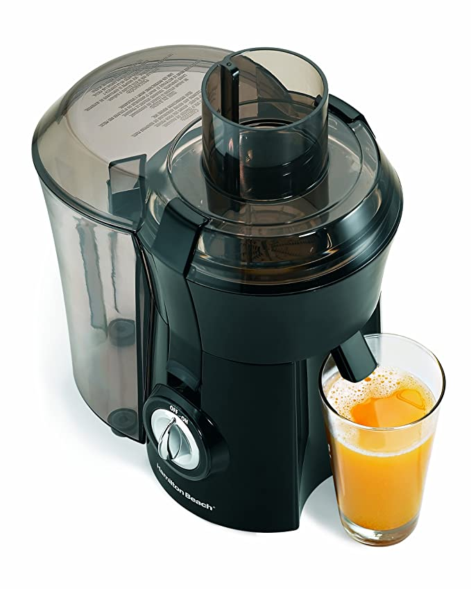 Hamilton Beach 67601A Big Mouth Juice Extractor Electric Juicer, 800 Watt, Black (Certified Refurbished)