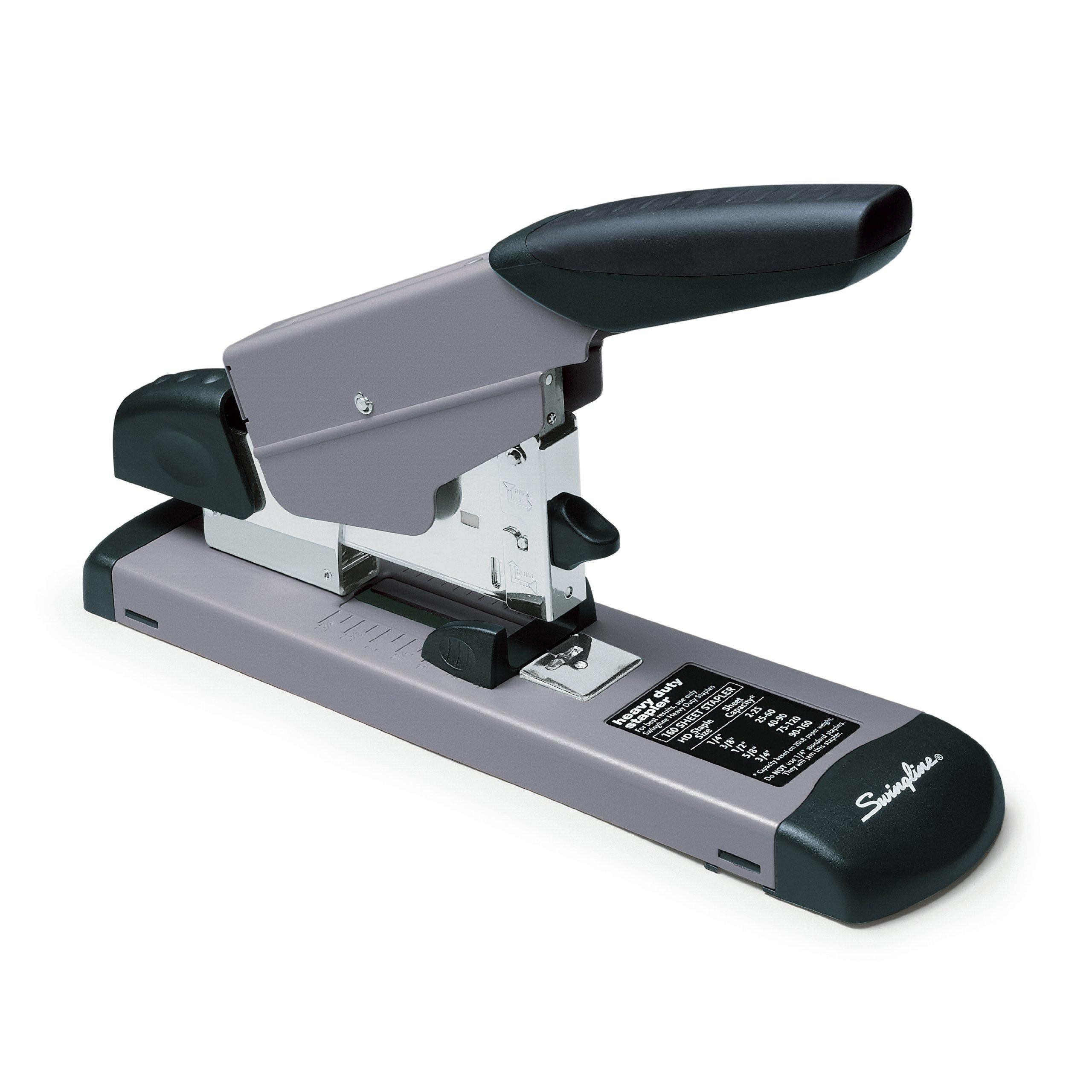 Swingline Heavy Duty Stapler, 160 Sheets Capacity, Desktop, Manual, Black/Gray (S7039005)