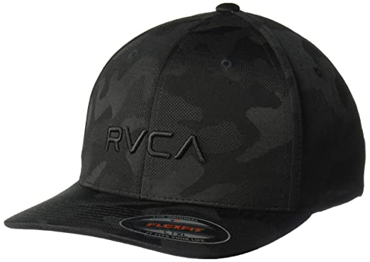 online store ce127 383df RVCA Men s Flex FIT HAT, Black camo, ...