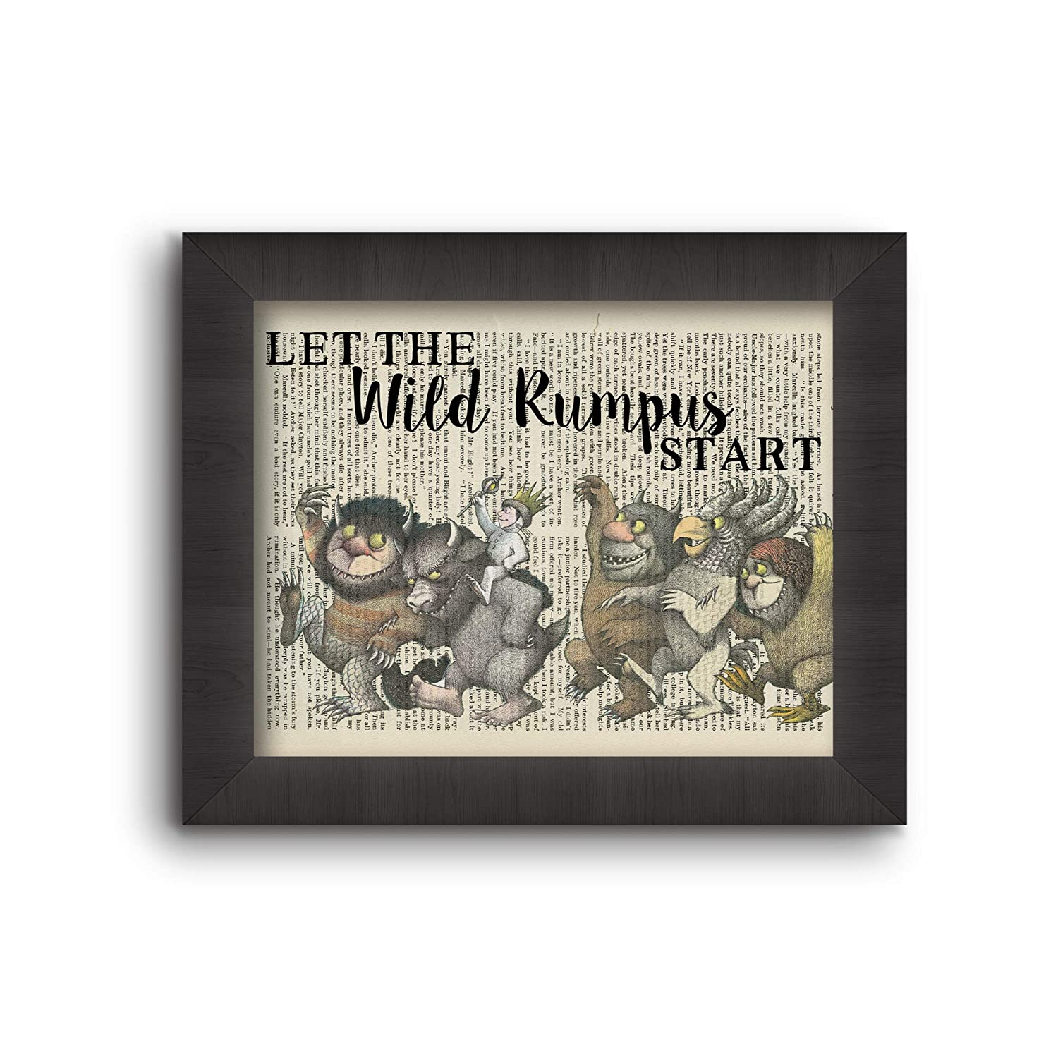 Cecelia Rose Book Art 8x10 PrintLet The Wild Rumpus Start Where The Wild Things Are