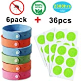 YHMALL Natural Mosquito Repellent Bracelet and Patch - Insect Bug Repellent Wristband and Stickers, Indoor & Outdoor Protection