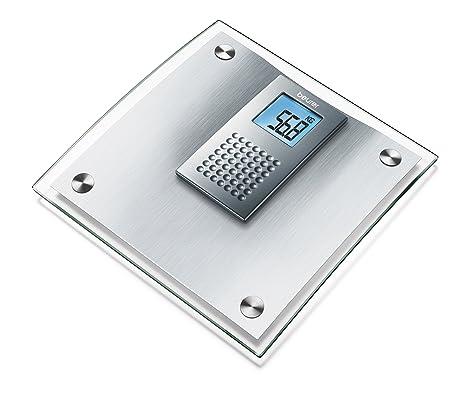 Beurer GS44 - Báscula de baño, cristal, medición 150 Kg/100 gr,
