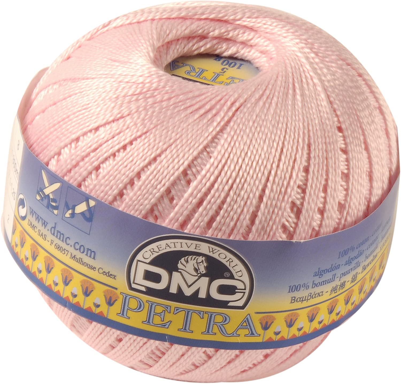 DMC Petra Ovillo, 100% algodón, Rosa, tamaño 3: Amazon.es: Hogar