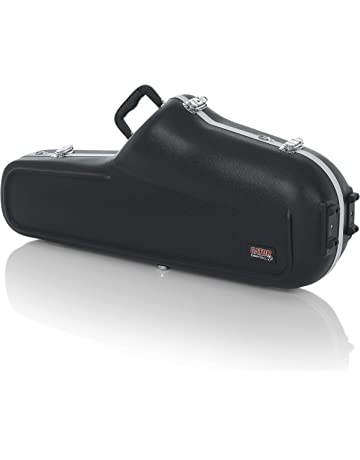 Gator Cases Lightweight Molded Tenor Saxophone Case with Locking Latch and Plush Lined Interior (GC