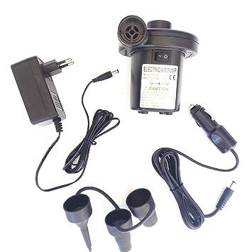 HC enterprise Hinchador Inflador Electrico Bomba Aire,2 EN 1,para Coche y casa: Amazon.es: Deportes y aire libre