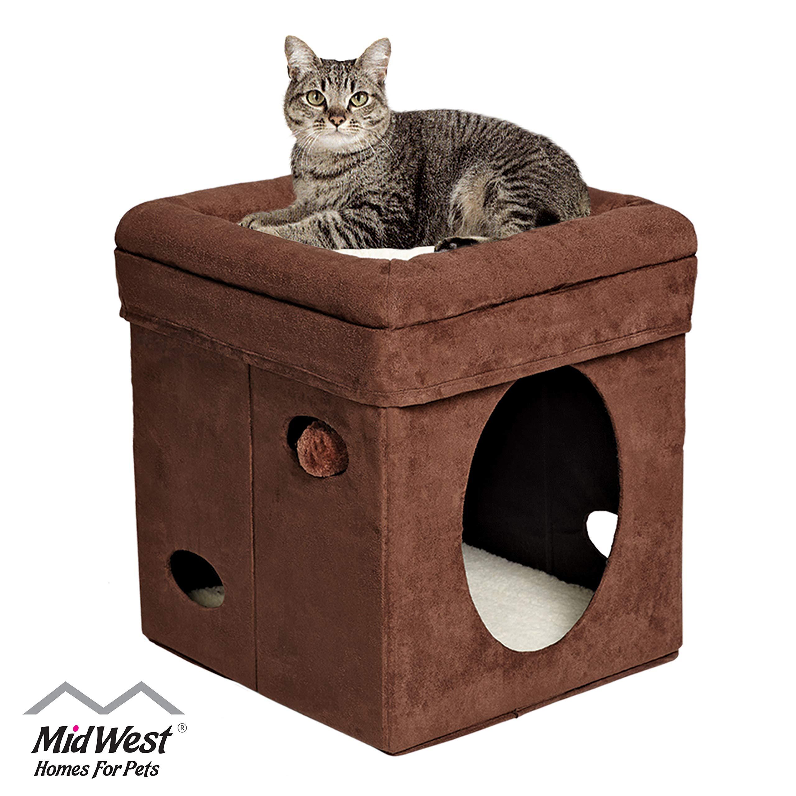 MidWest Curious Cat Cube, Cat House / Cat Condo