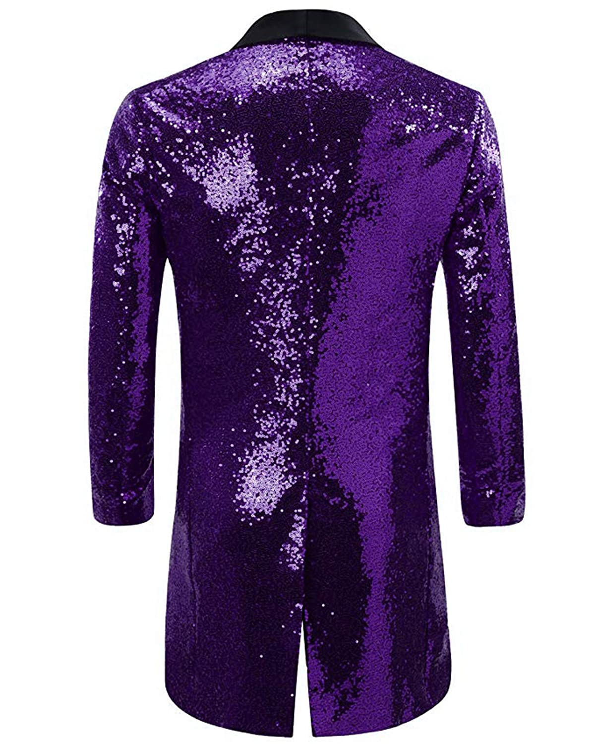 SETWELL Mens Bling Sequins Tuxedo Jacket Coat Wedding Party Stage Show Suits