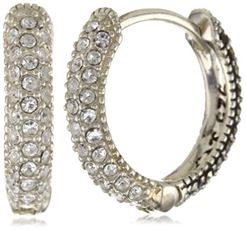 78aeeccd0 Judith Jack Sterling Silver, Marcasite, and Crystal Hoop Earrings:  Amazon.ca: Jewelry