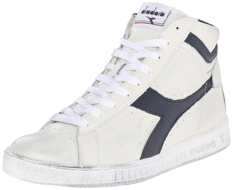 Diadora Game P High Sneaker a Collo Alto Uomo Bianco Bianco/Nero 38
