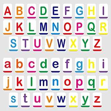 Hebayy Magnetic Alphabet ABC Flash Cards with Large Uppercase and Lowercase  Letters 5 5