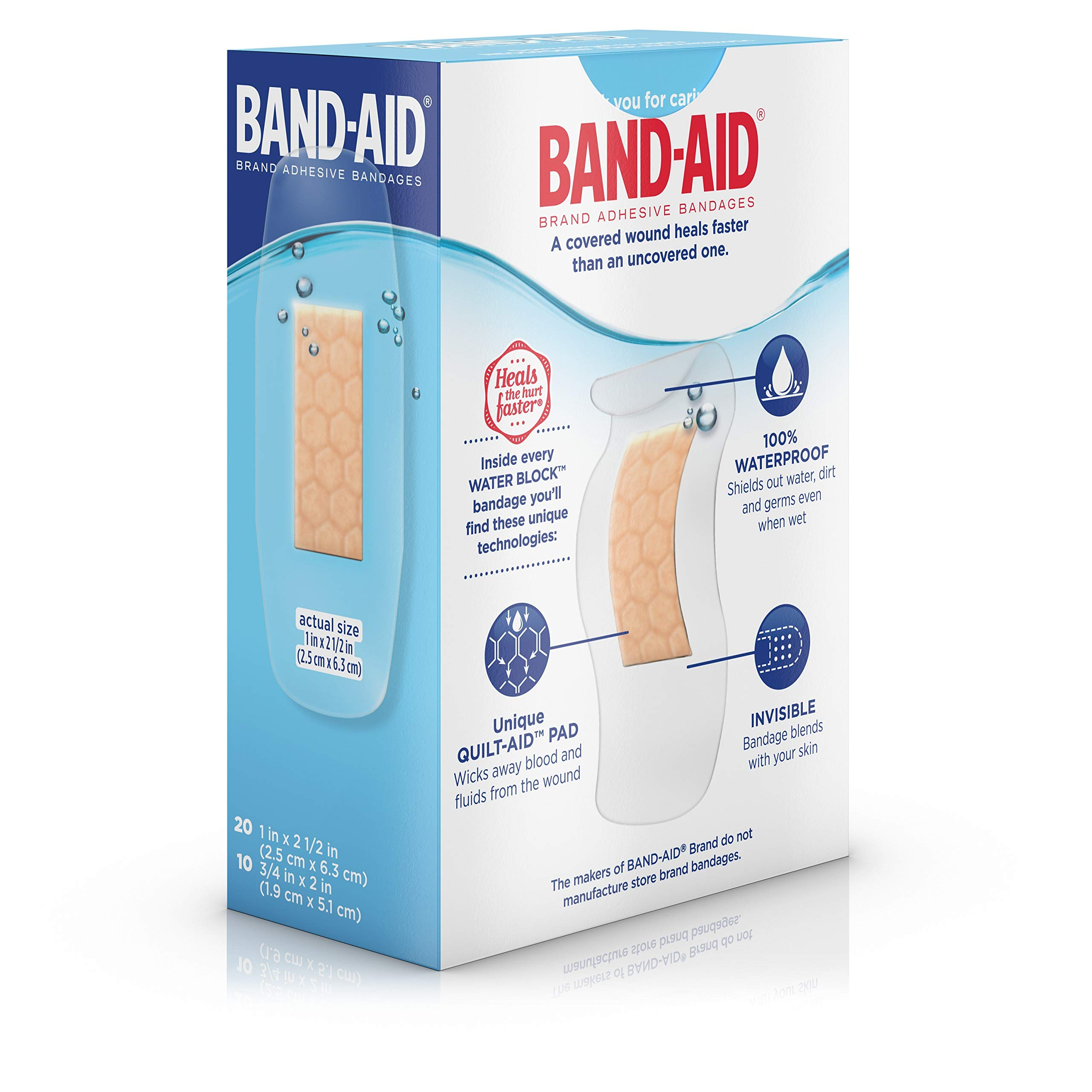 Band-Aid Brand Water Block Plus Waterproof Clear Adhesive Bandages for Minor Cuts and Scrapes, 30 ct (6 Pack) by Band-Aid (Image #12)