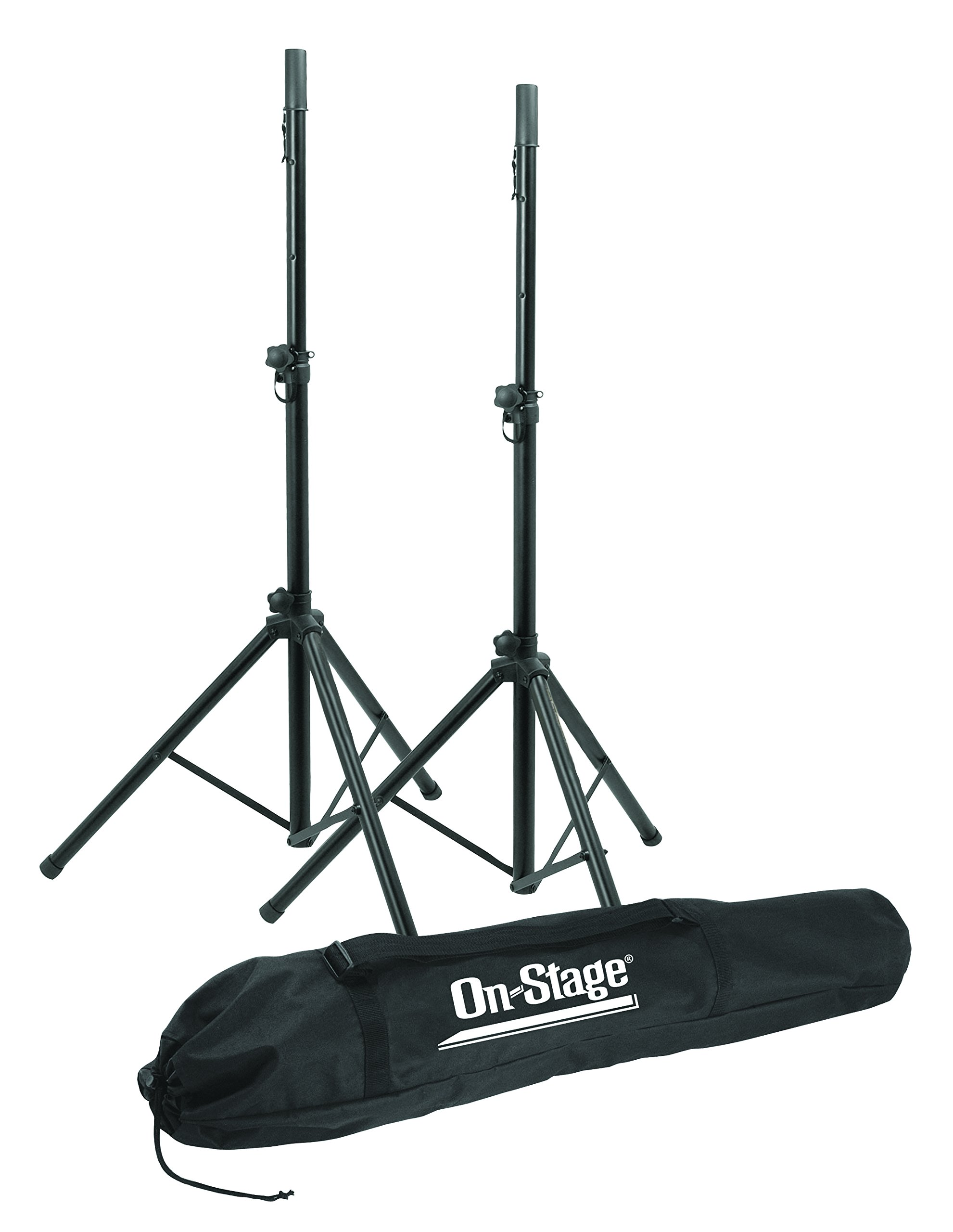 On Stage SSP7900 All Aluminum Speaker Stand Package with Bag by OnStage
