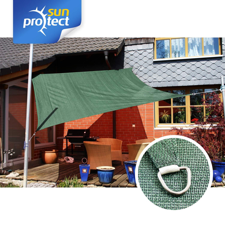 sunprotect 83201 Professional Sonnensegel Quadrat Wind- /& wasserdurchl/ässig 5 x 5 m beige