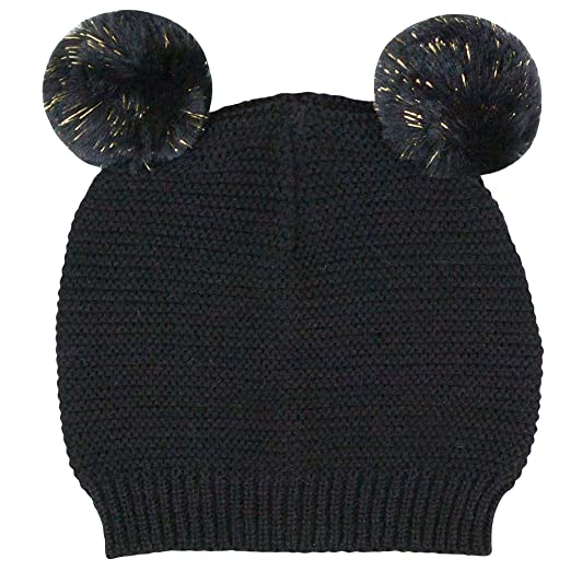 e9779970a74 Waddle Baby Girls Pom Pom Beanie Knit Hat for Fashion or Winter 6-12 Months