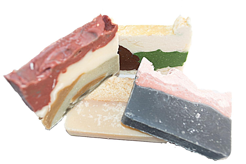 Set de pastillas de jabón del bosque (4 pastillas para invitados) - Jabones naturales artesanales para una experiencia térrea, natural y salvaje.