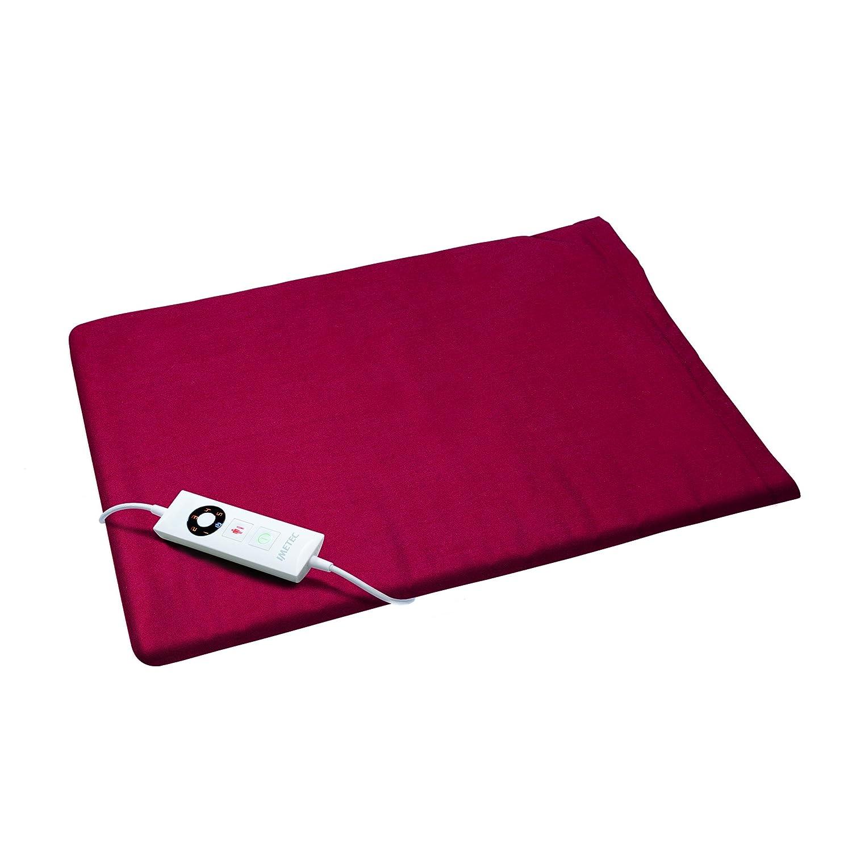 Imetec HP-04 - Almohadilla térmica, de 15 W hasta 110 W, 40 x 32 cm, color burdeos: Amazon.es: Salud y cuidado personal