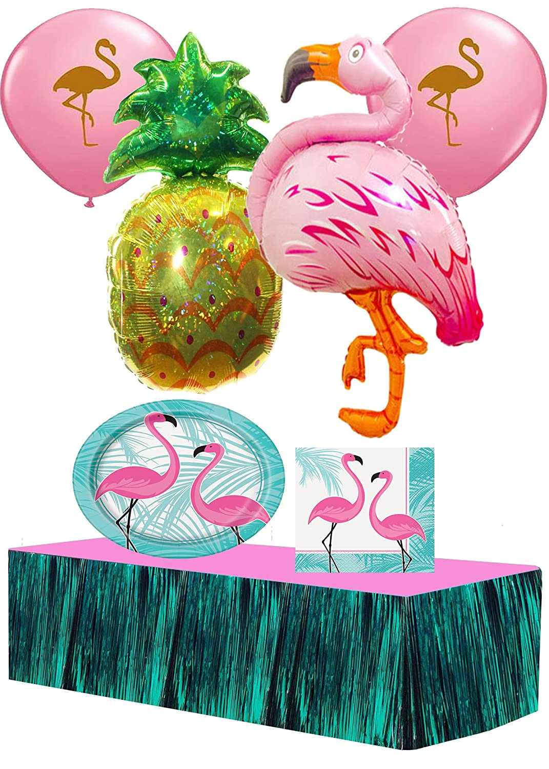 Tropical Flamingo Ultimate Party Pack for 16 Guests