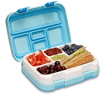 89fb68c6c29d MunchBox Bento Lunch Box with 5 Compartments, Kids & Toddler BPA Free  Plastic Snack Box, Adult Food Storage Container with Leak Proof Silicone  Lid. ...