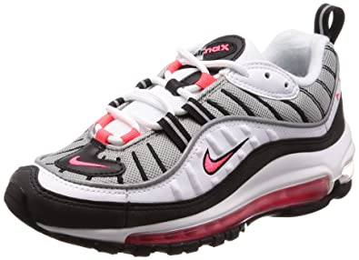 check out e9012 23aa8 Nike Women s Air Max 98 White Solar Red AH6799-104 (Size  7.5