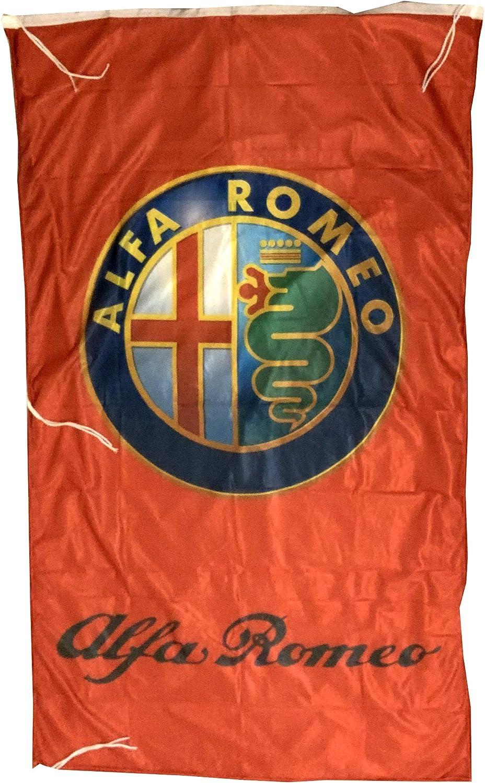 AL-FA Romeo 3D Vertical RED Flag Banner 3 X 5 ft