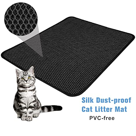 "Amazon.com: FOCUSPET Cat Litter Mat Litter Trapper Size 26"" X 22"", Waterproof Honeycomb Double-Layer Design, Easy Clean Urine Proof EVA Material Pet Litter ..."