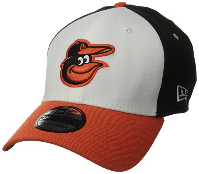 reputable site 56482 6e8a0 New Era MLB Baltimore Orioles Team Classic Home 39Thirty Stretch Fit Cap,  Black White