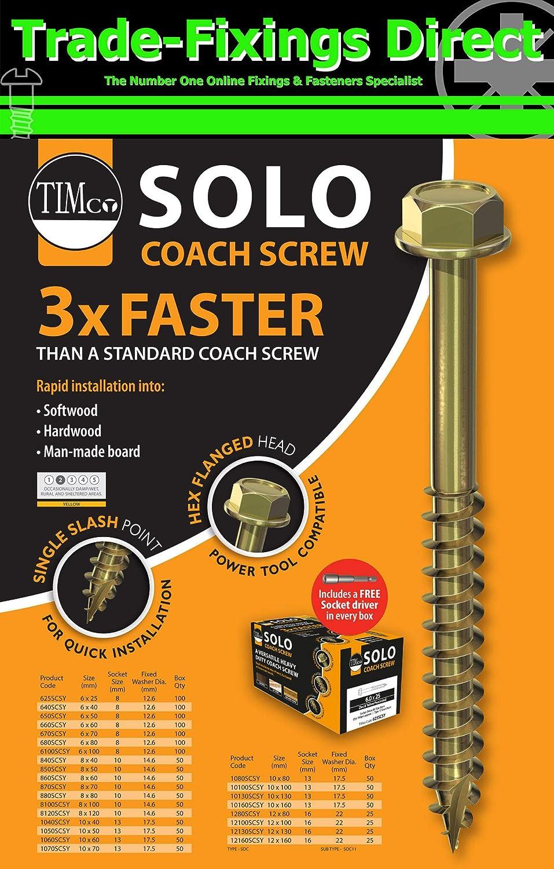 Yellow Zinc Flange Hex Head Timber Sleeper Timco Solo Coach Screw Turbo Fast