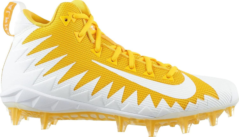 NIKE Alpha Menace Pro 871451-711 Mid Football Cleats-Team  Yellow/White-Varsity Maize-Size 10