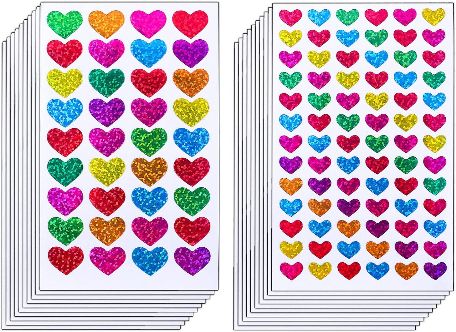 18 Sheet Colorful Decorative Colored Dots,Heart,Stars Adhesive Sticker Tape Kids Craft Scrapbooking
